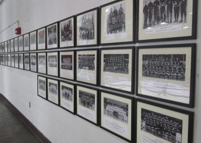 Brown Hockey Photos Line the Walls of Meehan Auditorium