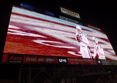 Video Board at Nissan Stadium during the Music City Bowl