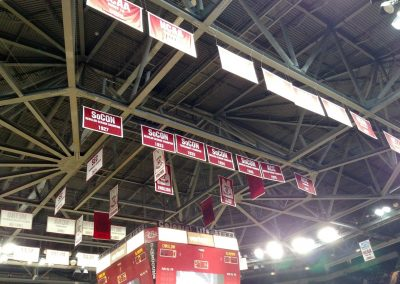 Colonial Life Arena, South Carolina Gamecocks Championship Banners