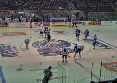 Faceoff at Hershey Centre