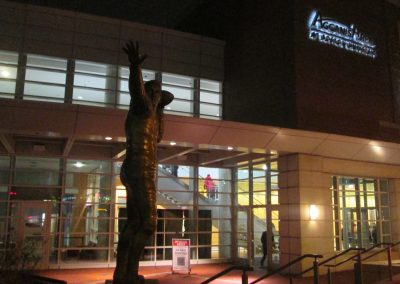 Harry Agganis Statue Outside Agganis Arena