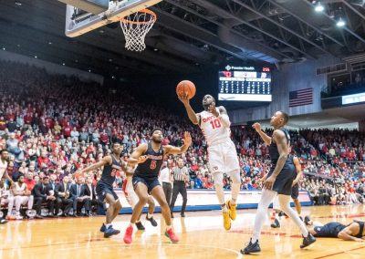 UD Arena Drive to the Basket