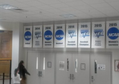 Banners at Chace Center