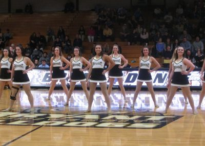 Bryant Cheerleaders at Chace Athletic Center