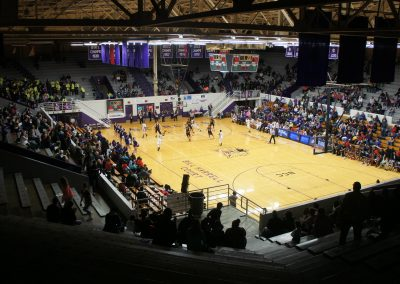 Muncie Fieldhouse View from the Top Rows