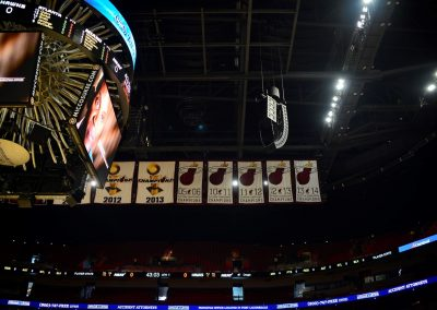 American Airlines Arena, Championship Banners