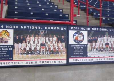 Championship Team Plaques at Gampel Pavilion