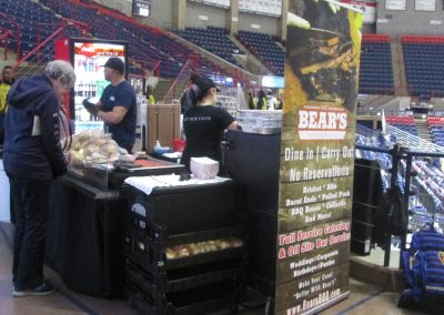 Bear BBQ Stand at Gampel Pavilion