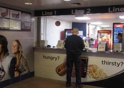 Concession Stand at Gampel Pavilion