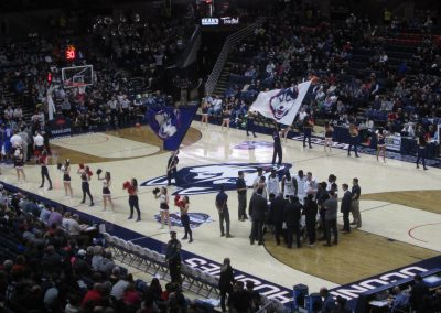 Activity During Play Stoppage at Gampel Pavilion