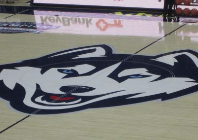 UConn Huskies Logo at Gampel Pavilion
