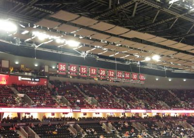 Moda Center, Portland Trail Blazers banners hanging from the ceiling