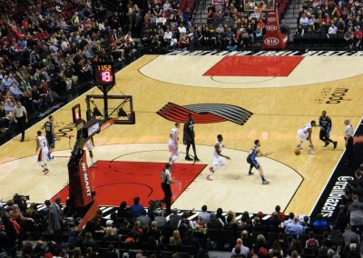 Moda Center, Portland Trail Blazers in action