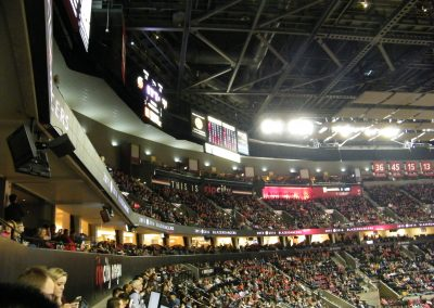 Moda Center, a view of the upper deck seating