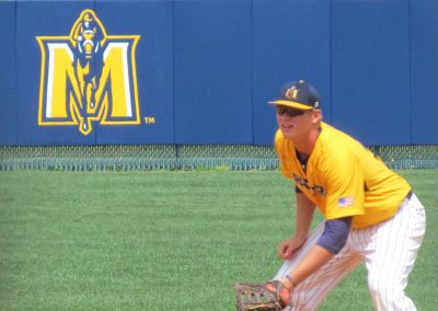 Murray State Racer Center Fielder and Logo