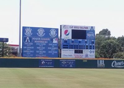 Clay Gould Ballpark Honor Board and Scoreboard