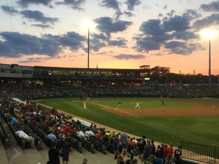Beautiful Sunset at Dozer Park, Home of the Peoria Chiefs