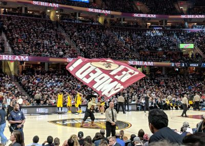 Sir CC Pumping Up the Crowd at Quicken Loans Arena