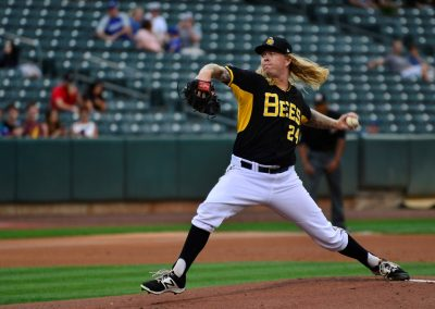 Smith's Ballpark, Salt Lake Bees Pitcher Tossing a Strike