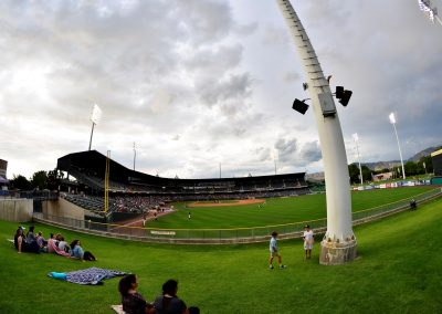 Smith's Ballpark, View from Left Field