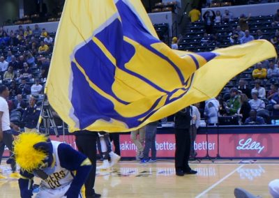 Bankers Life Fieldhouse, Indiana Pacers mascot