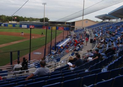 First Base Seats at Florida Auto Exchange Stadium