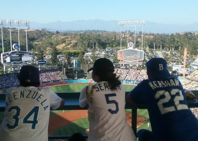 Dodgers Fans Enjoying The View From The Top Deck