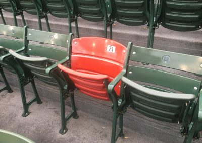 The Red Chair at Fenway Park