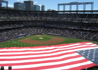 American Flag at Coors Field