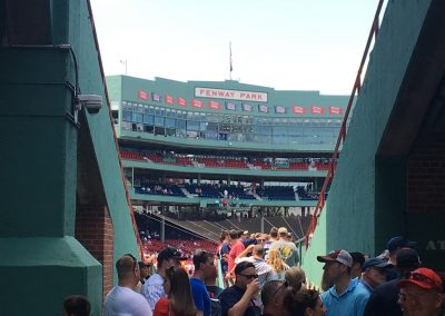 Walking up the Ramp Into Fenway Park