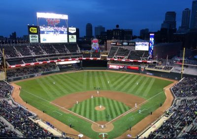 Target Field Interior at Night