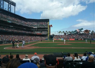 Giants vs. Dodgers, Game One of Two