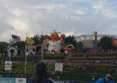 Isotopes Park Outfield Play Area