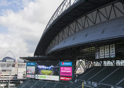 Safeco Field Scoreboard and Open Roof