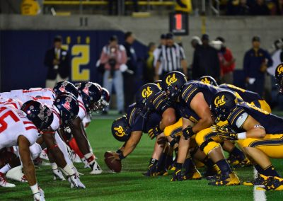 California Memorial Stadium, Lining Up for a Play