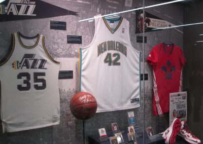 Smoothie King Center, jerseys on display from past New Orleans NBA teams