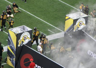 Tim Hortons Field, Hamilton Tiger-Cats players coming onto the field