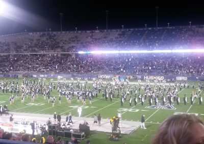 UConn Marching Band at Rentschler Field
