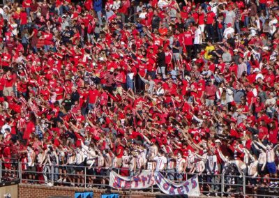 Arthur L. Williams Stadium, Liberty Flames Fans Celebrate a First Down