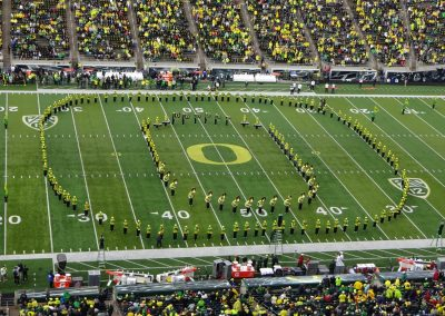 Autzen Stadium, Marching Band Forming the O