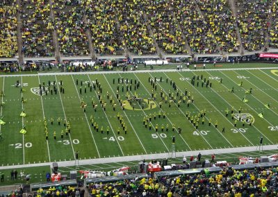 Autzen Stadium, Marching Band Spelling out D-U-C-K-S