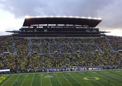 Autzen Stadium, Press Box and Grandstand
