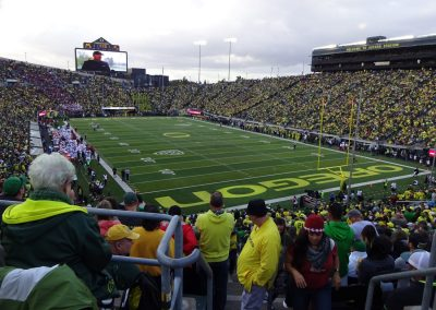 Autzen Stadium, View from the End Zone