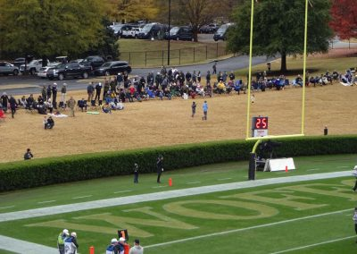Gibbs Stadium, Wofford Terriers Fans Watching from outside the Venue
