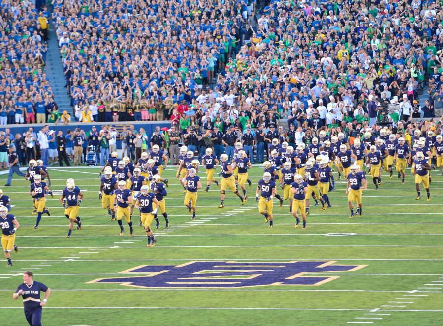 Notre Dame Stadium Player Introductions