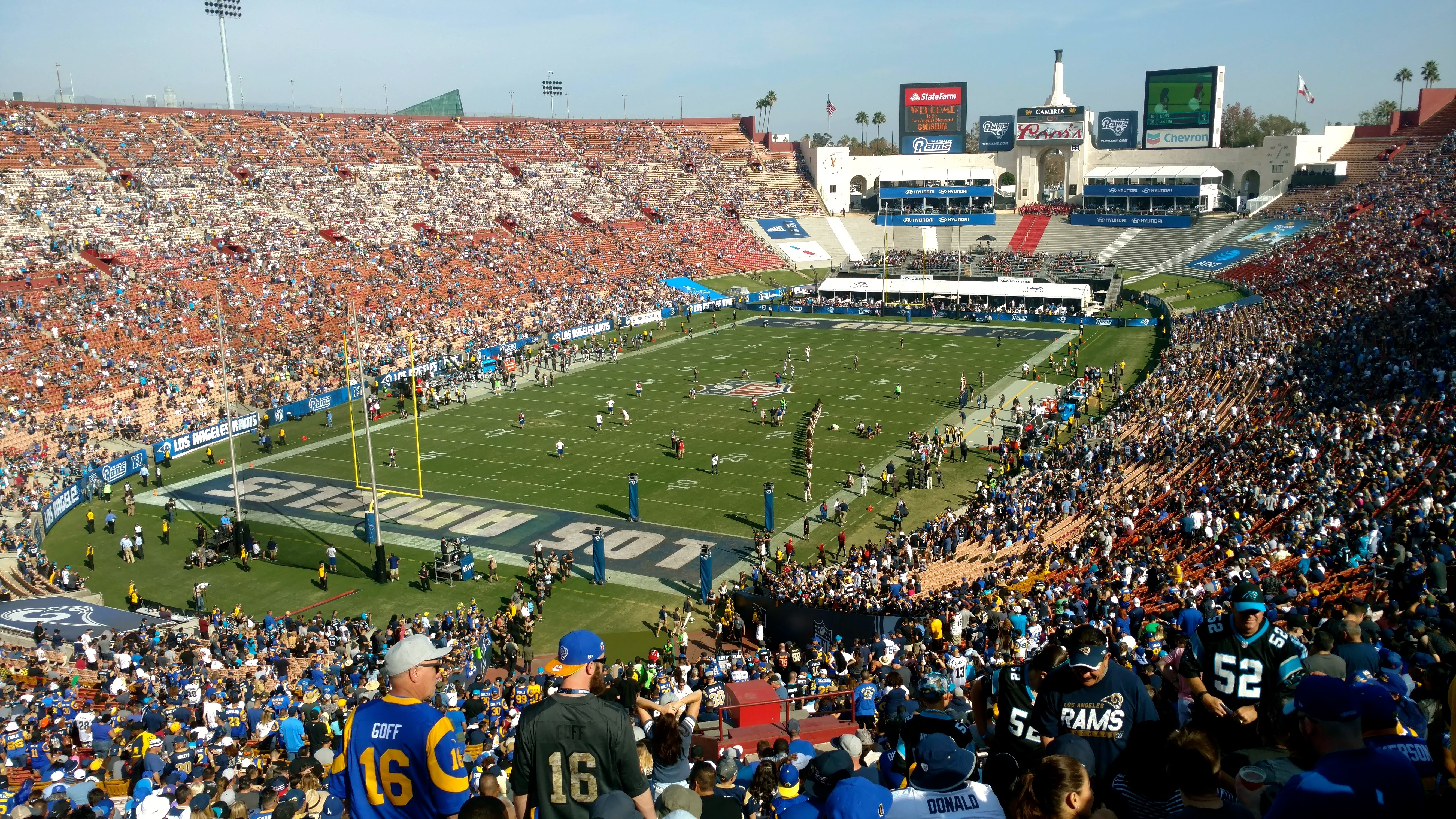 Los Angeles Memorial Coliseum Los Angeles Rams Stadium Journey