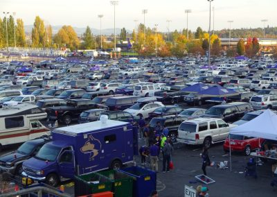 Tailgating Outside Alaska Airlines Field at Husky Stadium