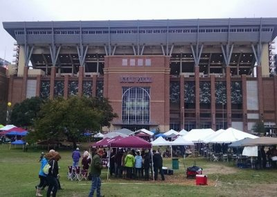 Tailgating outside Kyle Field