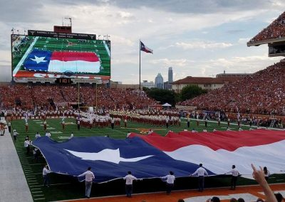 Player Introductions at Darrell K Royal - Texas Memorial Stadium