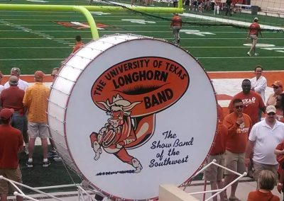 Band Drum at Darrell K Royal - Texas Memorial Stadium